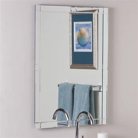 shop decor wonderland        rectangular frameless bathroom mirror  hardware