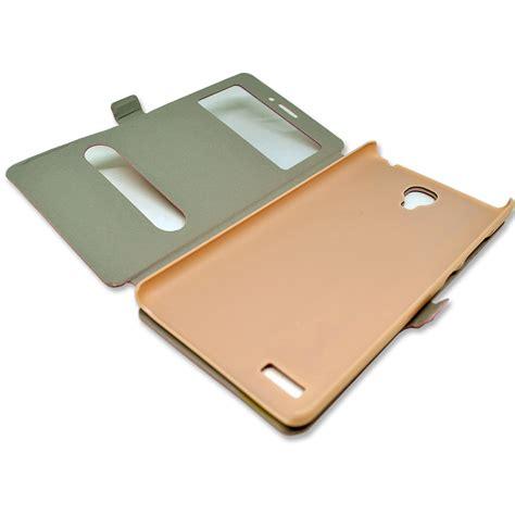 Leather Flip Window For Xiaomi Redmi Note taff leather flip cover dual window for xiaomi redmi