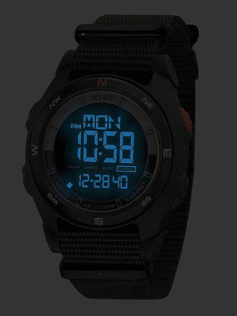 khs tactical digital compass s alarm chronograph
