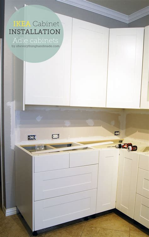 Ikea Kitchen Cabinet Assembly Kitchen Ikea Kitchen Cabinet Installation 187 Oh Everything Handmade