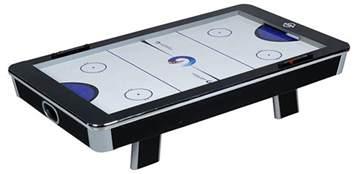 portable air hockey table size 97cm x 55cm x 22cm