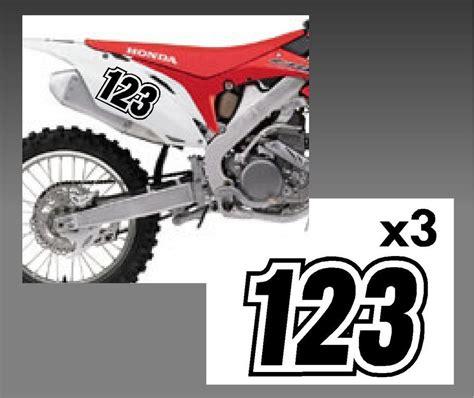motocross bike numbers custom race numbers bike moto cross trials x mx dirt