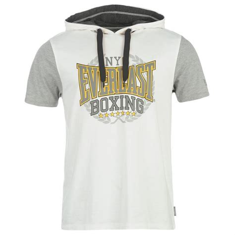 Hoodie Logo Everlast 1 everlast mens clothing sleeve hooded top t shirt mock layer brand logo ebay