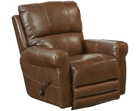 Catnapper Swivel Glider Recliner by Catnapper Hoffner Top Grain Leather Touch Swivel Glider