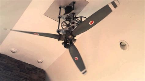 ceiling fans that look like airplane propellers dudes 8ft diameter airplane propeller ceiling fan youtube
