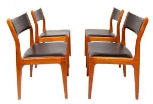 Used Dining Chairs Pre Owned Modern Teak Dining Chairs Set Of 4 Midcentury Dining Chairs