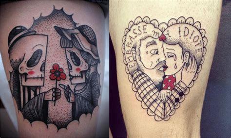 tattoo couple old school tatouage couple tout ce qu il faut savoir tattoome