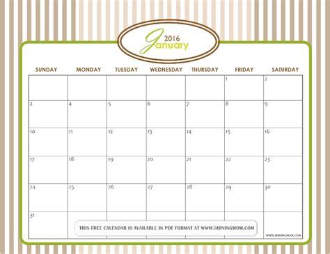 printable free january 2016 calendar calendar layout 2015 calendar template 2016