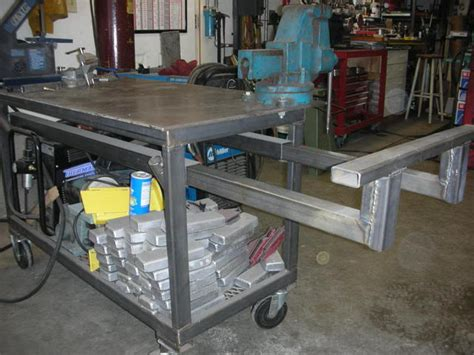 how to build a welding bench diy welding table and cart ideas