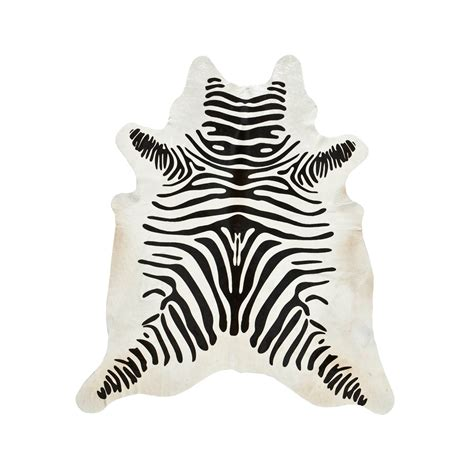 Cowhide Zebra Rug southwest rugs zebra stenciled black on white cowhide rug lone western decor