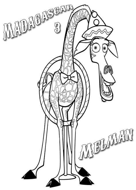 imagenes de jirafas de madagascar jirafa madagascar para colorear imagui