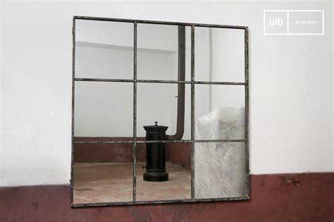 Miroir Style Industriel by Miroir Industriel Carr 233 9 Sections M 233 Tal Gris Patin 233 Pib