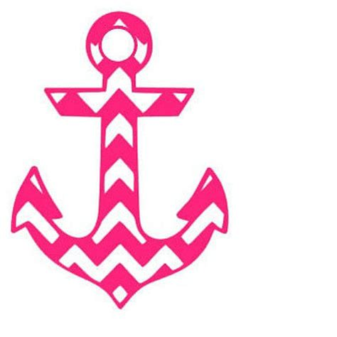 Chevron Home Decor by Chevron Anchor Window Car Decal From Whitneysmonograms On Etsy