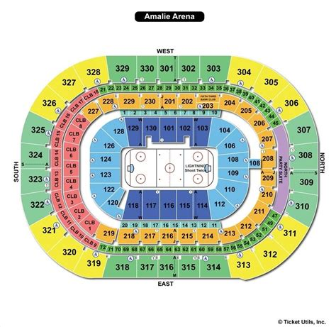 amalie arena ta fl seating chart view