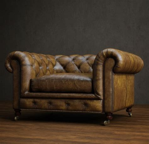 Classic Leather Chesterfield Sofa 3d Model 3dsmax Files Free Chesterfield Sofa