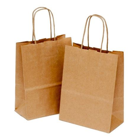 brown kraft paper gift bags with handles candle