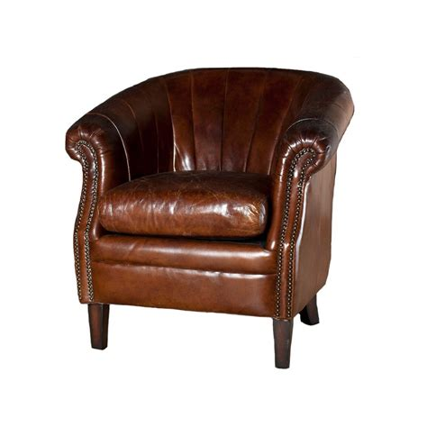 roosevelt chair roosevelt leather tub chair brown occasional chairs