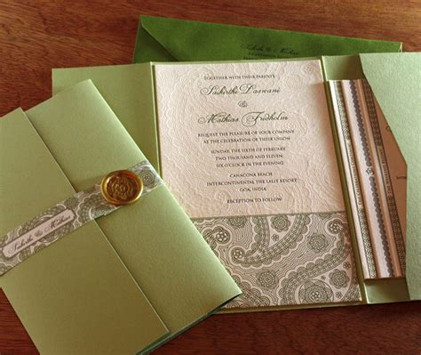 custom folder wedding invitations pocket folders for wedding invitation suites invitations by ajalon
