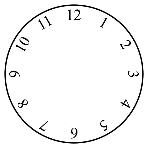 Clock Template by Free Clock Template Clipart Best