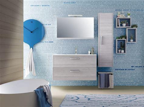 mobili bagno iperceramica piastrelle finto legno grigio
