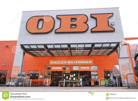 entrance of obi trade center editorial photo image 62088356