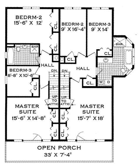 house plans for two families two family narrow lot 4285 3 bedrooms and 1 bath the