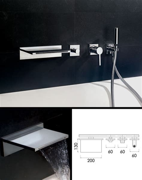 wall mounted bath filler and shower waterblade waterfall bath filler with shower livinghouse