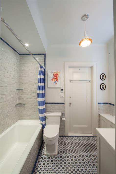 Blue Bathrooms Ideas horizontal stripe shower curtain contemporary bathroom