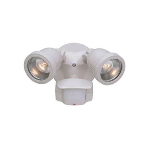 designers area security 2 light white outdoor
