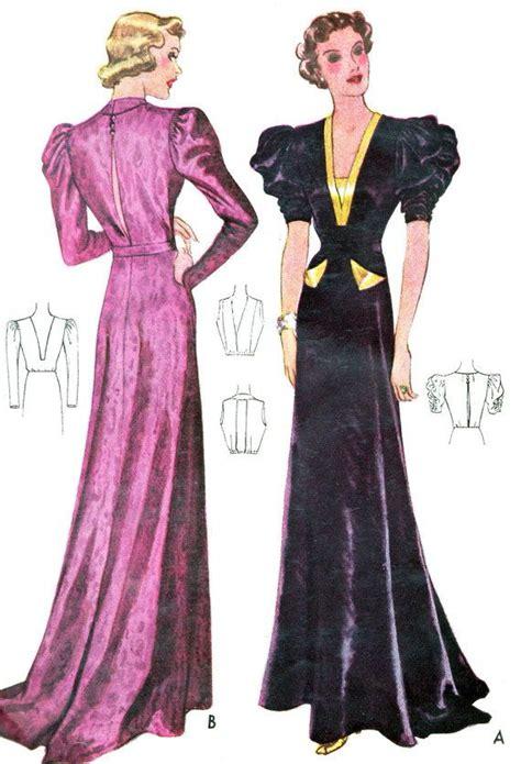 pattern night dress 601 best 1930s fashion images on pinterest 1930s fashion