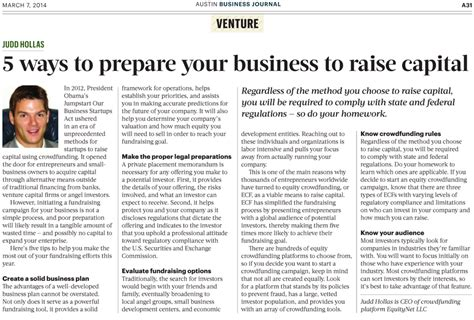 5 to raising capital for your new business idea 5 ways to prepare your business to raise capital
