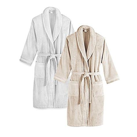 bathrobe bed bath and beyond frette at home unisex milano terry bathrobe bed bath
