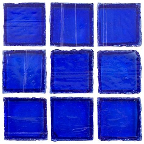 glass tiles 12 x 12 in clear cobalt recycled glass blue