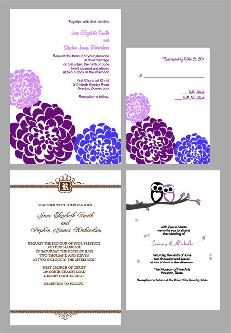 custom wedding invitations wedding invitation templates