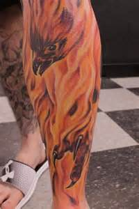 tattoo phoenix on leg 30 phoenix leg tattoos ideas