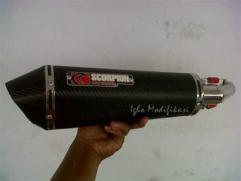 Knalpot Racing Scorpion For New Cbr 250 igho modifikasi fighter style unlimited creation
