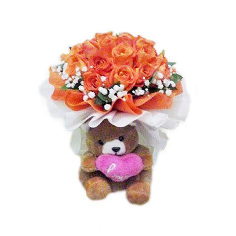 Teddy Bouquet Buket Bunga Mawar Boneka bouquet murah harga 400 ribuan toko bunga murah jakarta