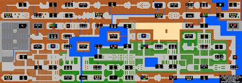 legend of zelda nes map and walkthrough zelda map nes laminatoff