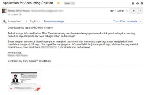 Nulis Di Lop Lamaran Kerja by Contoh Format Surat Lamaran Kerja Via Email Ben