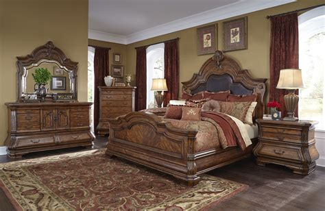 Aico Bedroom Set | 4 piece aico tuscano melange mansion bedroom set usa furniture warehouse
