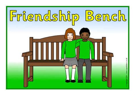 bench signs friendship bench sign sb4912 sparklebox