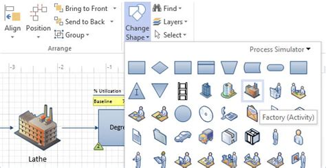 visio manufacturing shapes promodel better decisons faster