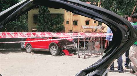 mumbai car crash mumbai audi crash in janhavi gadkar s blood well