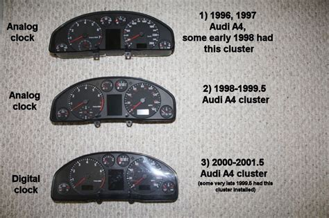 hayes car manuals 1997 audi a4 instrument cluster understanding differences between audi a4 clusters and the compatibility issues audiworld forums