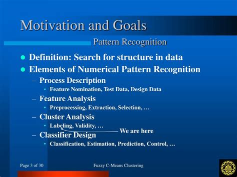 definition of pattern recognition system ppt fuzzy c means clustering powerpoint presentation