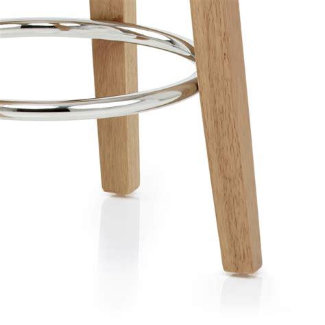 sgabelli ecopelle sgabello da bar ikon in ecopelle e finitura in legno di rovere
