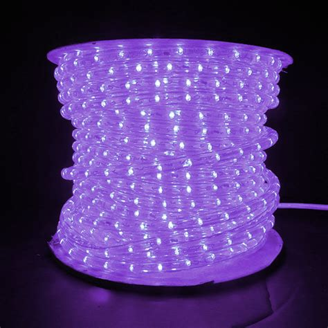 purple led rope light white wire 150 spool holiday leds