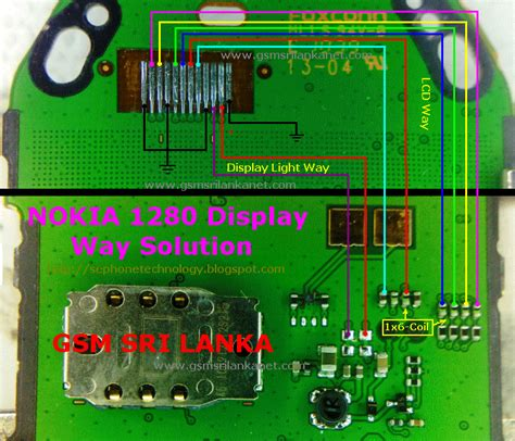 lights problems nokia 1280 lcd display light problem solution jumper ways