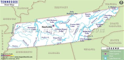 tennessee river map buy tennessee river map
