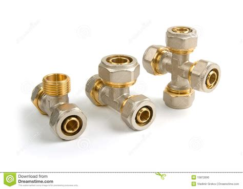 Plumbing Pipe Connections by Plumbing Fittings Stock Photo Image Of Silver Hollow